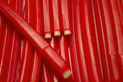 Strawberry flavored candy sticks Royalty Free Stock Photography