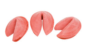 Strawberry flavored fortune cookies Royalty Free Stock Image
