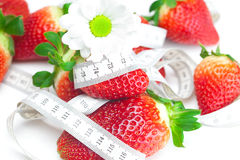 Strawberry and flower Royalty Free Stock Image