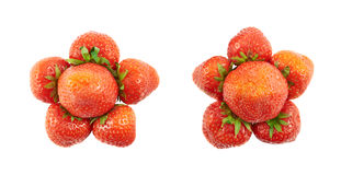 Strawberry flower shaped composition Royalty Free Stock Image