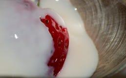 Strawberry food yogurt Royalty Free Stock Photos