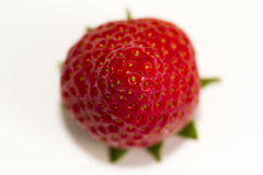 Strawberry. Foreground of strawberry on white background Stock Photo