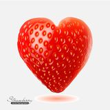 Strawberry in the form of heart. Vector illustration of strawberry in the form of heart Royalty Free Stock Images