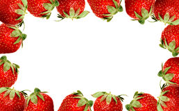 Strawberry frame stock image