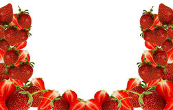 Strawberry frame Royalty Free Stock Photography