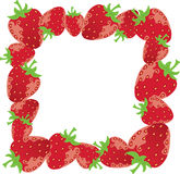 Strawberry frame Royalty Free Stock Photos