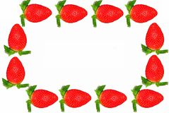 Strawberry frame Stock Image