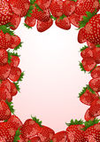 Strawberry frame Royalty Free Stock Images