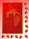 Strawberry frame Stock Photos