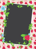Strawberry frame and background Stock Image