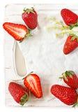 Strawberry frame. Royalty Free Stock Photos