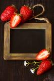 Strawberry frame. Royalty Free Stock Image