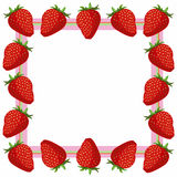 Strawberry frame Stock Images