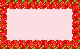 Strawberry frame vector illustration. This is file of EPS10 format Royalty Free Stock Image