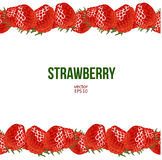 Strawberry frame, vector illustration Royalty Free Stock Images