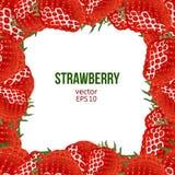 Strawberry frame, vector illustration Stock Images