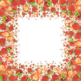 Strawberry Frame (on white) Royalty Free Stock Photos