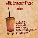 Strawberry frappe recipe Royalty Free Stock Photo