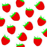 Strawberry  freehand drawing background Royalty Free Stock Image