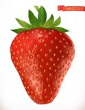 Strawberry. Fresh fruit 3d vector icon Royalty Free Illustration