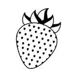 Strawberry fresh fruit icon Stock Photos