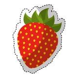 Strawberry fresh fruit icon Royalty Free Stock Photography