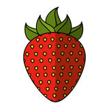 Strawberry fresh fruit icon Royalty Free Stock Photos