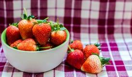 Strawberry. Fresh strawberry from garden in a bolw Stock Photos
