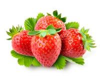 Strawberry.  Fresh organic fruit isolated on white background Royalty Free Stock Photo