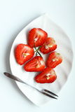 Strawberry. Fresh strawberry pieces in dish Royalty Free Stock Photos