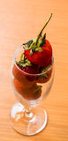 Strawberry. Fresh red strawberry in glass Royalty Free Stock Image