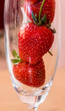 Strawberry. Fresh red strawberry in glass Royalty Free Stock Photos