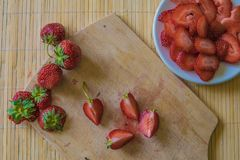 Strawberry. Fresh strawberry. Red strawberry. Organic and natura. L Royalty Free Stock Photo