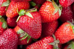 Strawberry. Fresh Ripe Strawberries. Selective Focus. Shallow DOF Stock Image