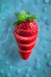 Strawberry Fresh Sliced Royalty Free Stock Photography