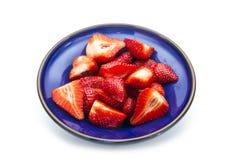 Strawberry. Fresh sliced strawberries isolated on white background Royalty Free Stock Photo