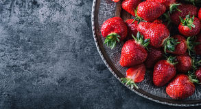Strawberry. Fresh strawberry. Red strewberry. Strawberry Juice. Loosely laid strawberries in different positions.  Stock Images