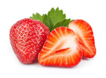 Strawberry. Fresh on white background Royalty Free Stock Images