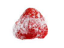 Strawberry frozen ice on a white background Stock Photography