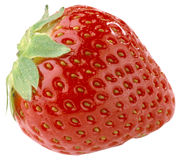 Strawberry fruit. Selected from background Stock Photography