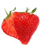 Strawberry fruit. Strawberry fresh fruit isolated on white background stock images