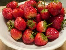 Strawberry. Fruit background fresh food wallpaper red Stock Image