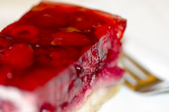 Strawberry fruit cake Royalty Free Stock Images