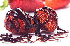 Strawberry fruit with chocolate Stock Photo