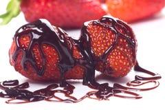 Strawberry fruit with chocolate Stock Photo