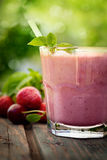 Strawberry fruit drink Royalty Free Stock Photography