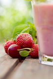 Strawberry fruit drink Royalty Free Stock Images