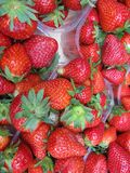 Strawberry fruit at a greengrocery Stock Photo