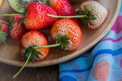 Strawberry and fruit group of vitamin for health , tasty fruit Stock Image