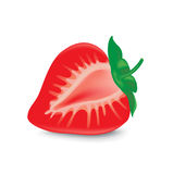 Strawberry fruit in half isolated Royalty Free Stock Images